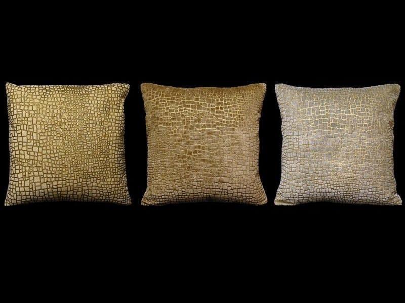 Square velvet cushion MOSAICO | Square cushion - Venetia Studium