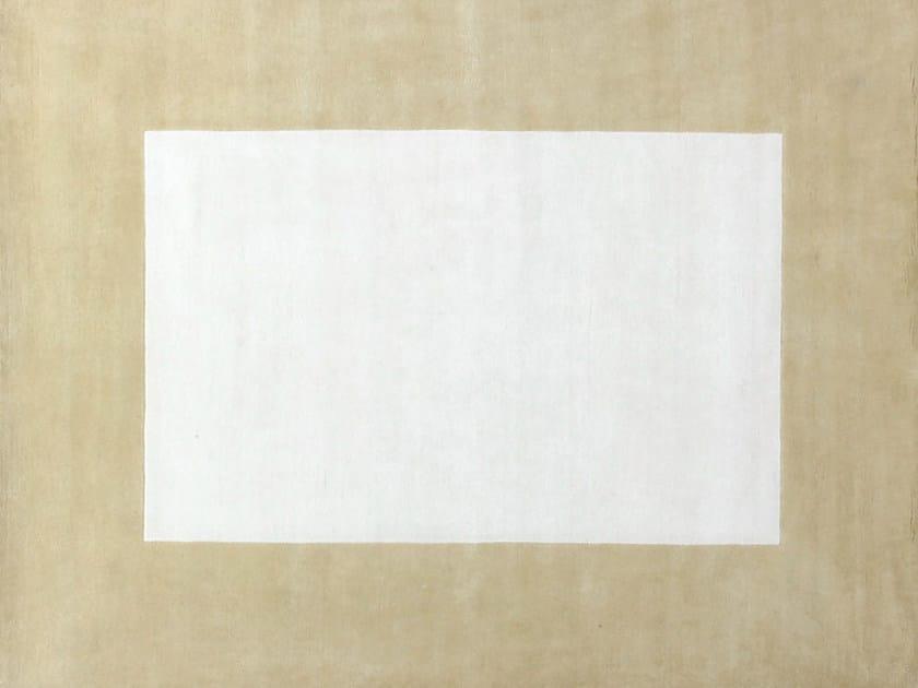 Handmade custom rug MOTU BEIGE - EDITION BOUGAINVILLE