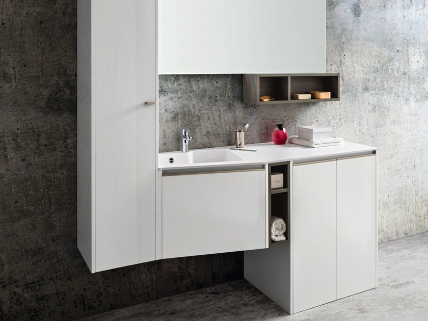 Single vanity unit with drawers MOVIDA 72 by Cerasa
