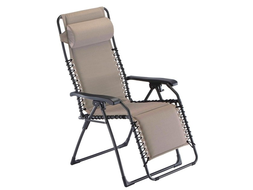 Recliner steel deck chair with armrests with footrest MOVIDA SOFT XL by FIAM