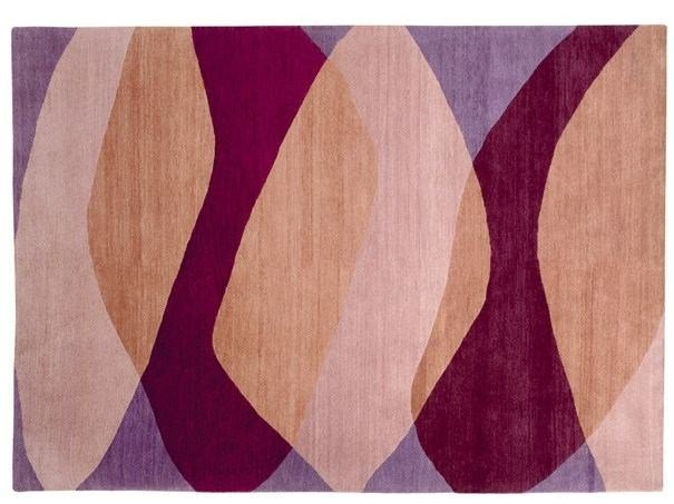 Handmade rectangular rug MOVING SHADOWS - Deirdre Dyson