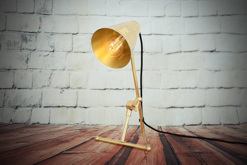 Contemporary style direct-indirect light handmade LED brass table lamp MOYA TABLE LAMP | Table lamp - Mullan Lighting