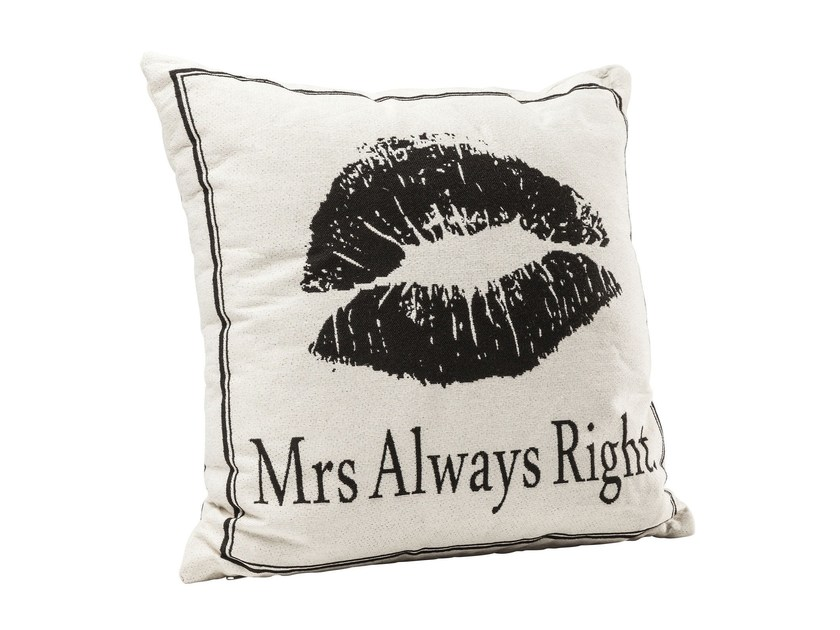 Square fabric cushion MRS ALWAYS RIGHT - KARE-DESIGN