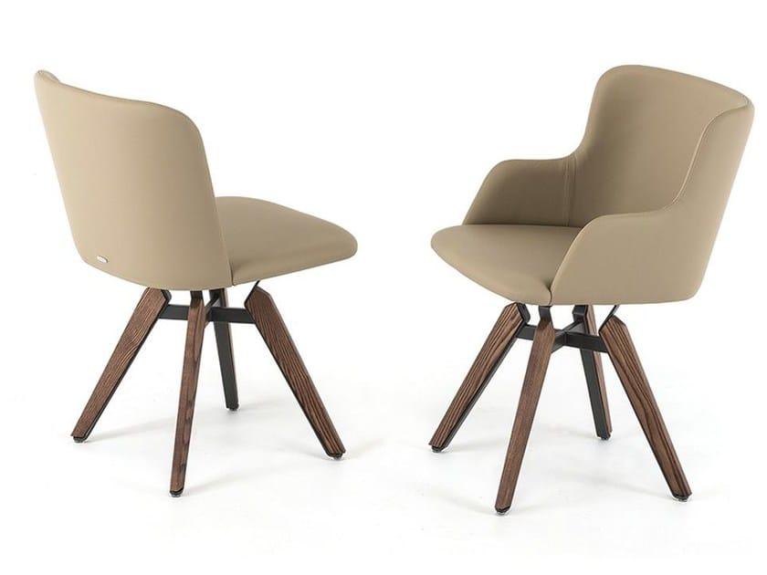 Swivel upholstered chair MULAN - Cattelan Italia