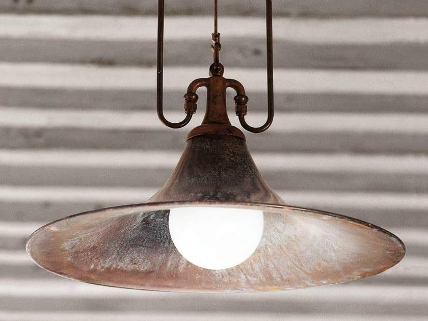 Direct-indirect light brass pendant lamp MULINO - Aldo Bernardi