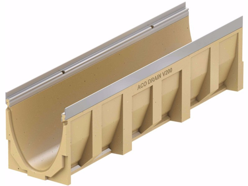Polymere concrete Drainage channel and part ACO Drain Multiline V200 - ACO PASSAVANT