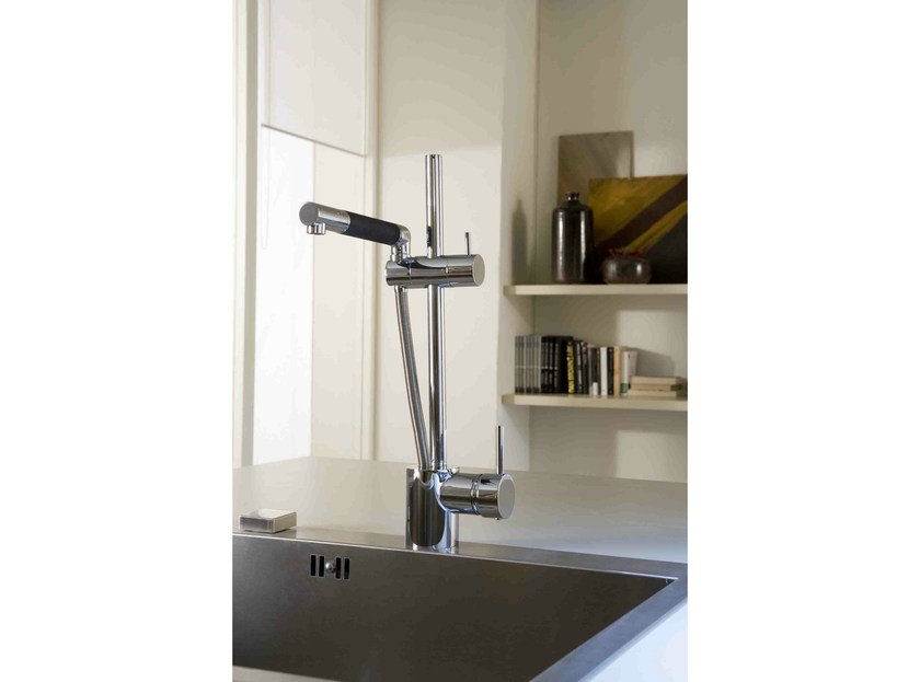 1 hole kitchen mixer tap with pull out spray MULTIPLO - Rubinetterie 3M