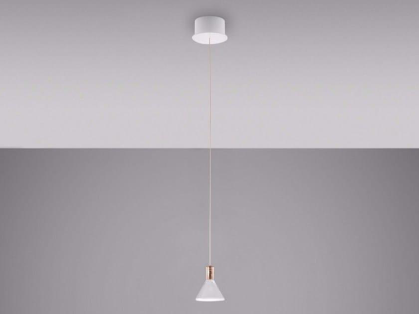 LED Borosilicate glass pendant lamp MULTISPOT POLAIR | Pendant lamp - Fabbian