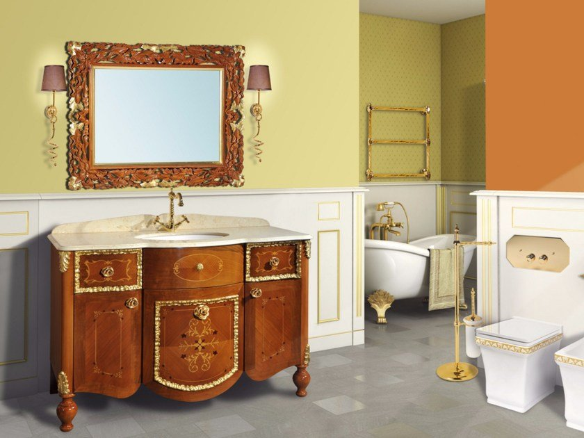 Vanity unit with doors with drawers with mirror MURANO CM45DC by LA BUSSOLA