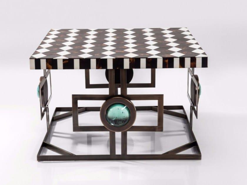 Square iron coffee table MUSIVO SQARE - KARE-DESIGN