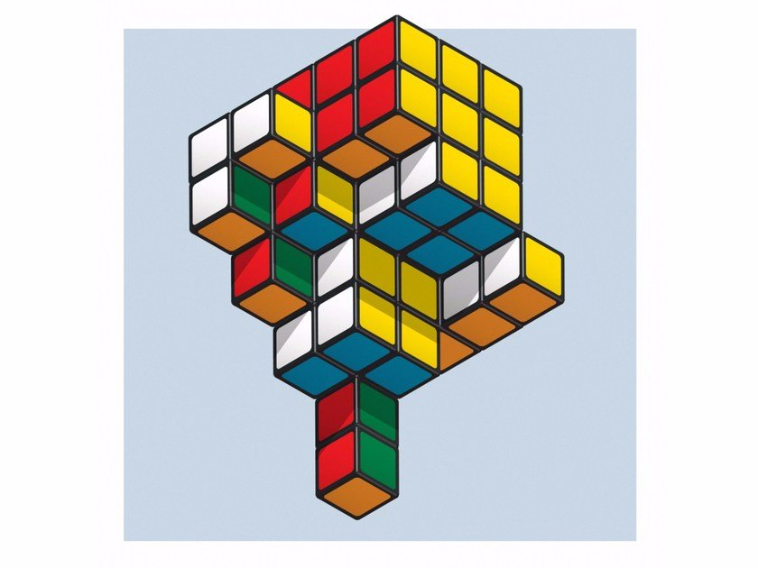 Print on paper MUTANT RUBIK'S CUBE by Andre Brik