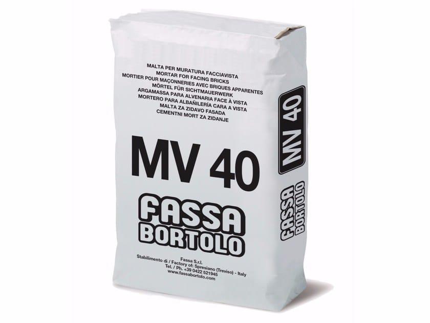 Mortar for masonry MV 40 by FASSA