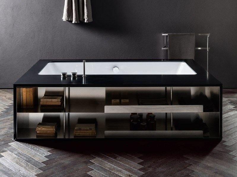 Vasca sottopiano freestanding con vano a giorno my style for Piani di casa acadiani con stanza bonus
