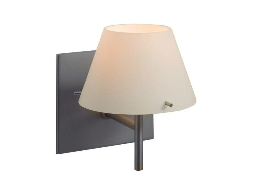 Metal wall lamp with fixed arm MYA | Wall lamp with fixed arm - Aromas del Campo