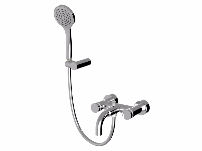 Wall-mounted bathtub tap with hand shower MYRING | Wall-mounted bathtub tap - Giulini G. Rubinetteria