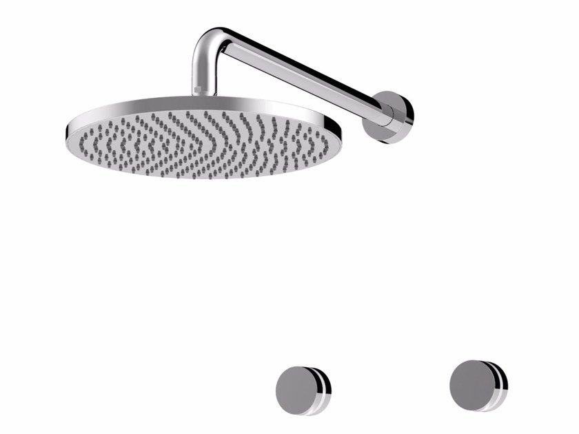 Shower tap with polished finishing with overhead shower MYRING | Built-in overhead shower - Giulini G. Rubinetteria