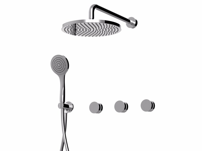 Shower mixer with hand shower with overhead shower MYRING | Shower mixer - Giulini G. Rubinetteria