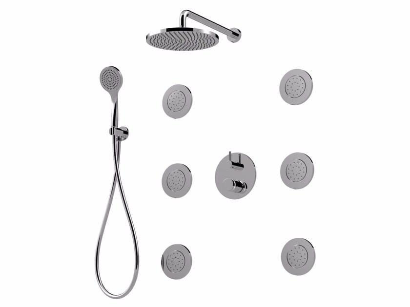 Colonna doccia con deviatore con soffione da incasso MYRING | Colonna doccia da incasso - Giulini G. Rubinetteria