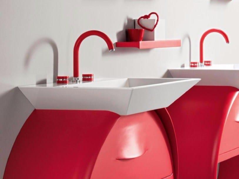 3 hole countertop washbasin tap MYRING MULTICOLOR | Washbasin tap - Giulini G. Rubinetteria