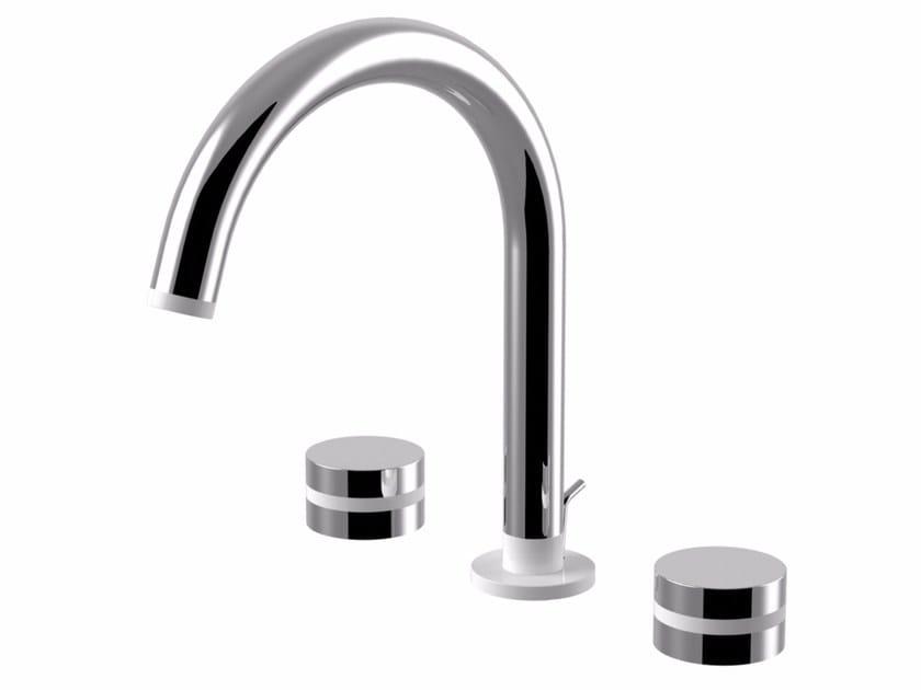3 hole countertop brass washbasin tap MYRING | Washbasin tap - Giulini G. Rubinetteria
