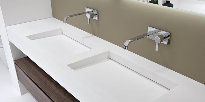 Corian® washbasin countertop SLOT & MYSLOT by Antonio Lupi Design