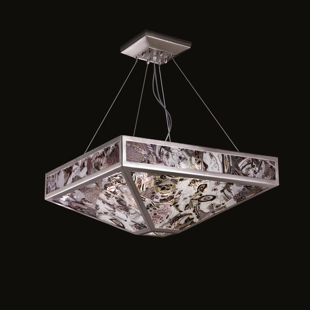 Contemporary style LED handmade glass pendant lamp MYSTIQUE   Blown glass pendant lamp by MULTIFORME