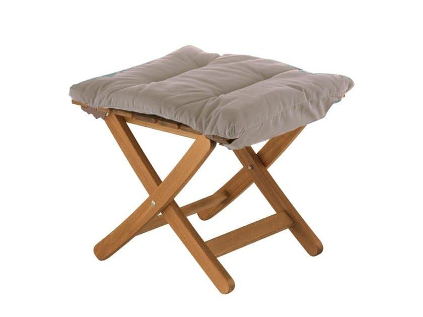 Folding wooden garden footstool Matty soft by FIAM