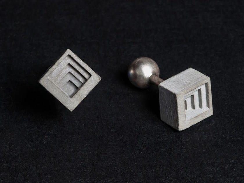Gemelli in calcestruzzo Micro Concrete Cufflinks #4 by mim studio