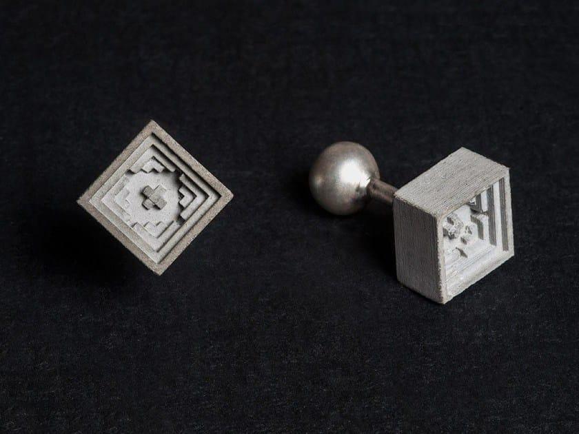 Gemelli in calcestruzzo Micro Concrete Cufflinks #5 by mim studio