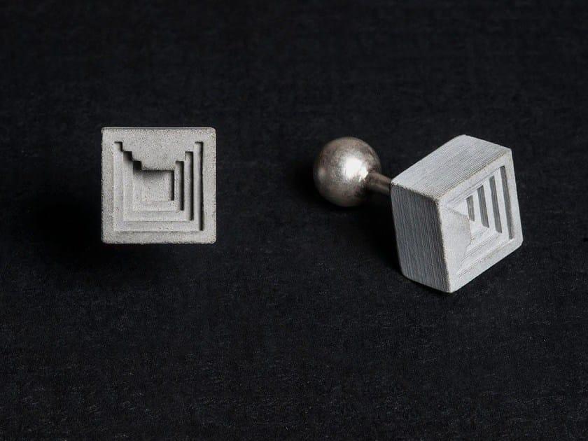 Concrete Cufflinks Micro Concrete Cufflinks #6 by mim studio