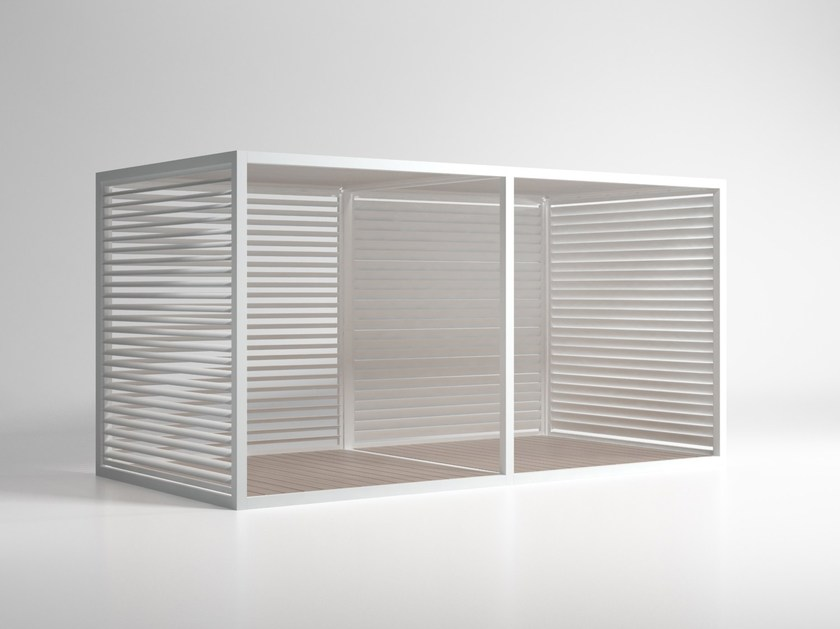 Adjustable aluminium solar shading Mobile Blades Sidewalls by GANDIA BLASCO