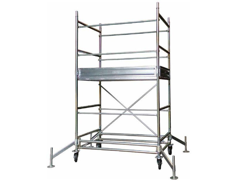 Mobile scaffolding and ladder for construction site Mobile Scaffold by Condor