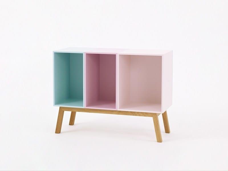 Modular wooden highboard Modular highboard by Cubit by Mymito
