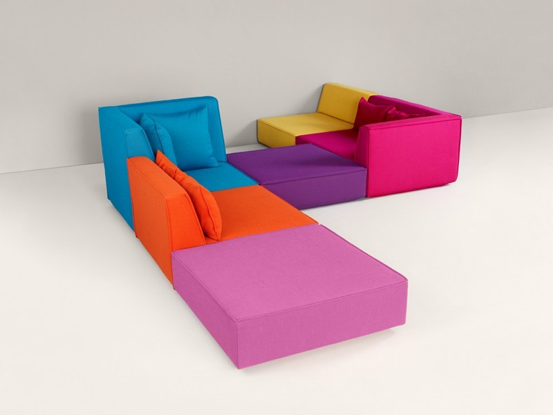 Modular fabric sofa Modular sofa by Cubit by Mymito