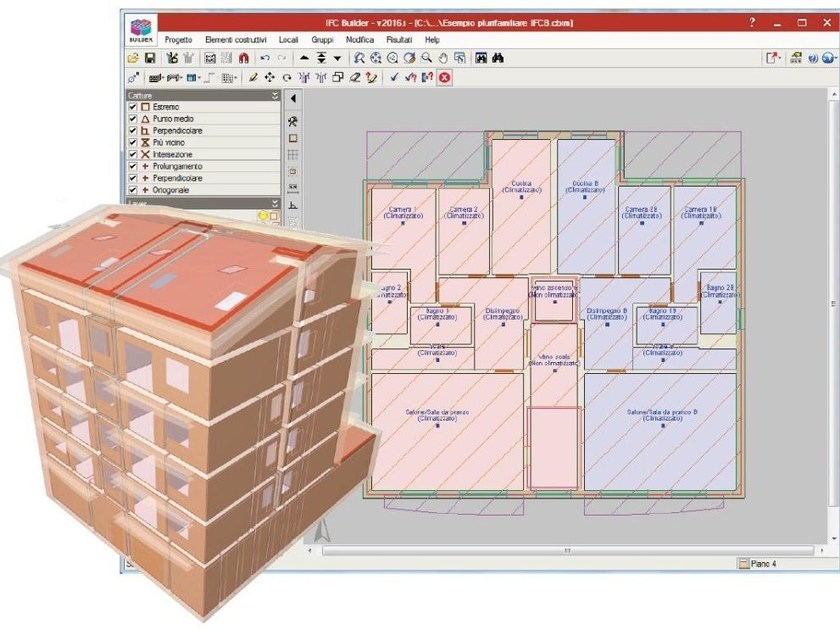 Dwg dxf file viewer and converter / CAD-integrated building services software MODULO DISEGNO IFC Builder by ATH ITALIA software