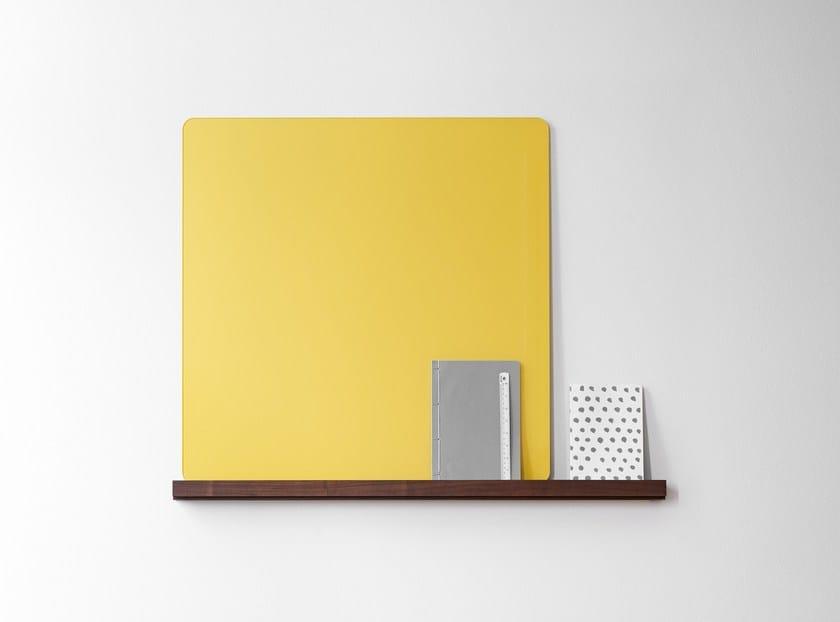 Wall-mounted glass office whiteboard Mood Ledge - Lintex