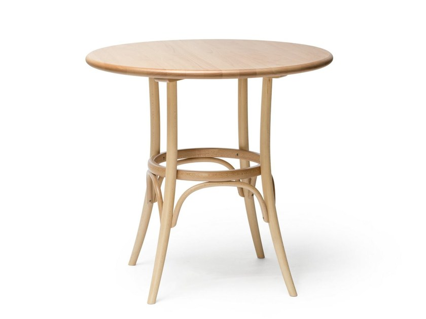 Round solid wood table N° 152 - TON