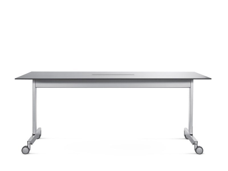 Stackable rectangular table with casters N_TABLE - Wiesner-Hager