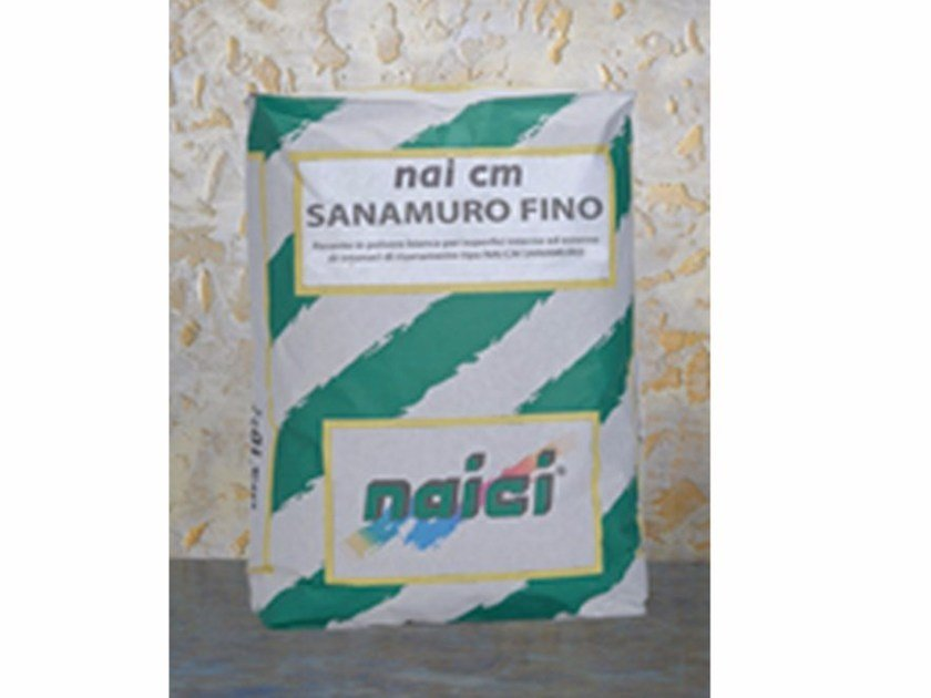 Renovating and de-humidifying additive and plaster NAI CM SANAMURO FINO - NAICI ITALIA