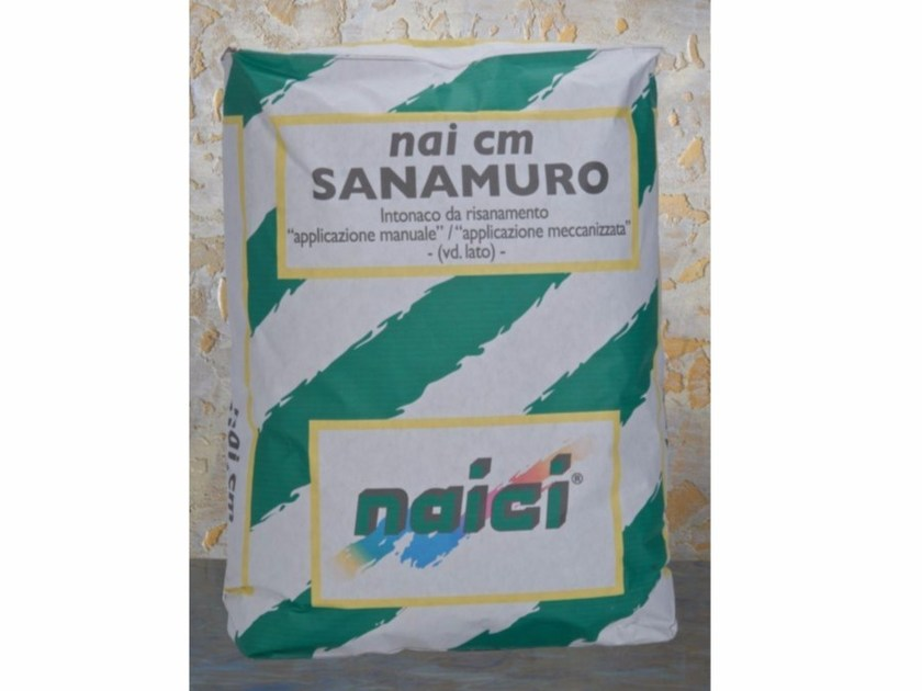 Renovating and de-humidifying additive and plaster NAI CM SANAMURO - NAICI ITALIA