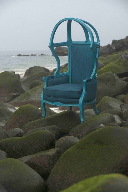Garden armchair with armrests NAKED ENRICO - POLaRT