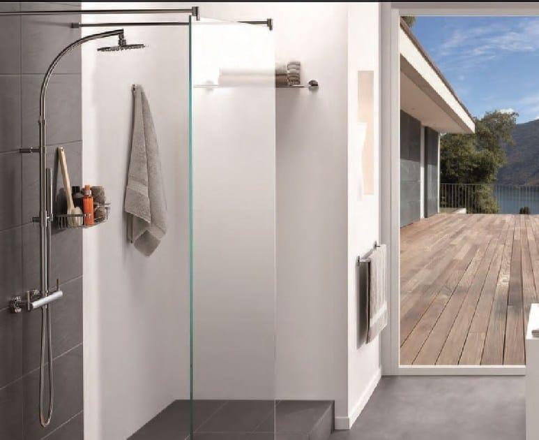 Miscelatore per doccia a 2 fori in metallo in stile moderno con doccetta con finitura lucida NANO | Miscelatore per doccia con doccetta - INTERCONTACT