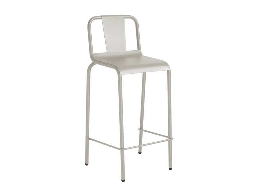 Lacquered counter stool with footrest NAPOLES | Counter stool - iSimar