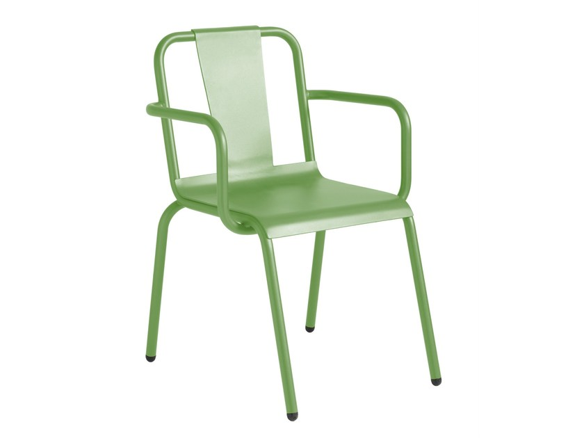 Aluminium garden chair with armrests NAPOLES | Chair with armrests - iSimar