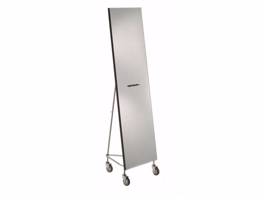Freestanding rectangular mirror NARCISO by DE PADOVA