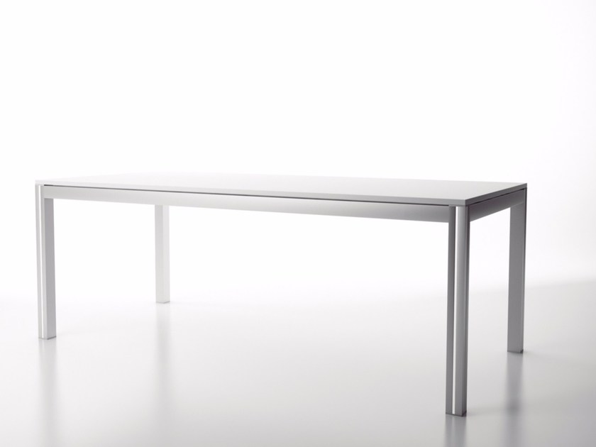 Rectangular aluminium office desk NASKI - Systemtronic