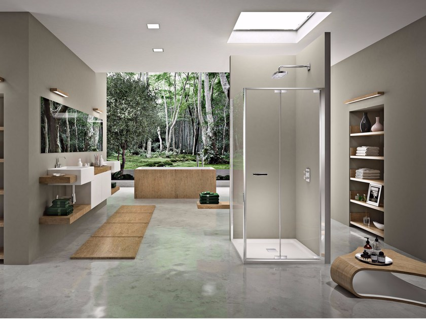 Corner shower cabin NATURA 4000 - AR-DTW L/R by DUKA