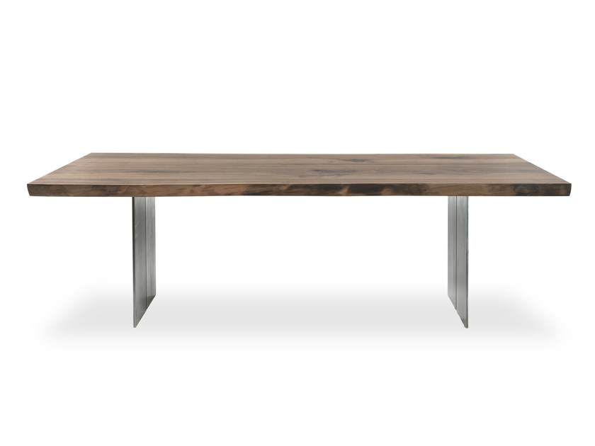 Rectangular solid wood table NATURA EXTRA NATURAL SIDES by Riva 1920
