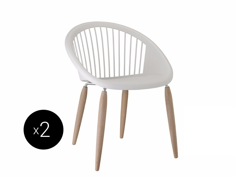 Technopolymer chair NATURAL GIULIA | Technopolymer chair - SCAB DESIGN