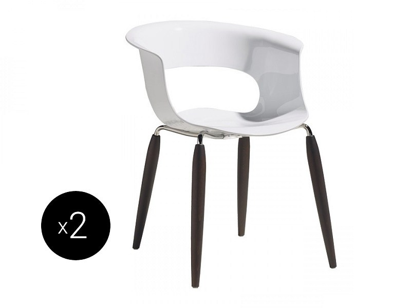 Contemporary style open back polycarbonate chair NATURAL MISS B ANTISHOCK | Open back chair - SCAB DESIGN